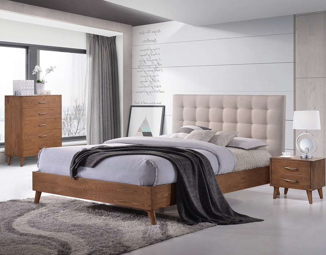 Noosa Timber & Fabric Bed