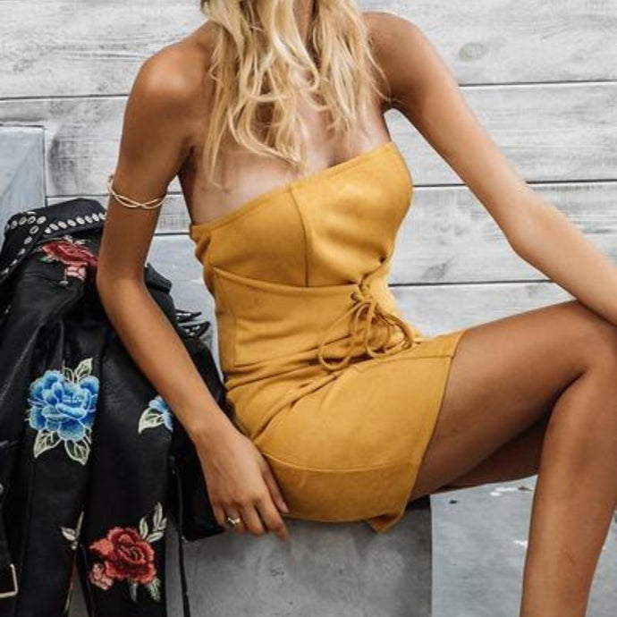 Suede Body Dress