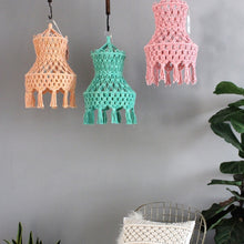 Load image into Gallery viewer, DELHI Hanging Macrame Lamp