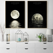Load image into Gallery viewer, Moon Phases Canvas Poster
