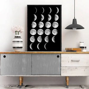 Moon Phases Canvas Poster