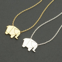 Load image into Gallery viewer, Origami Elephant Pendant Necklace