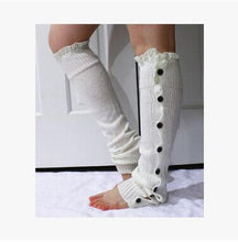 Load image into Gallery viewer, Button Up Leg Warmers