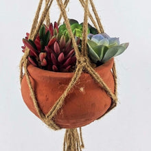 Load image into Gallery viewer, Nautical Twine Hanging Planter Macrame