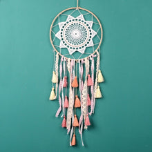 Load image into Gallery viewer, dream catcher Handmade Dreamcatcher Gradient Tassel Wind Chimes Car Pendant Mascot Craft Gifts Wall Hanging Ornaments