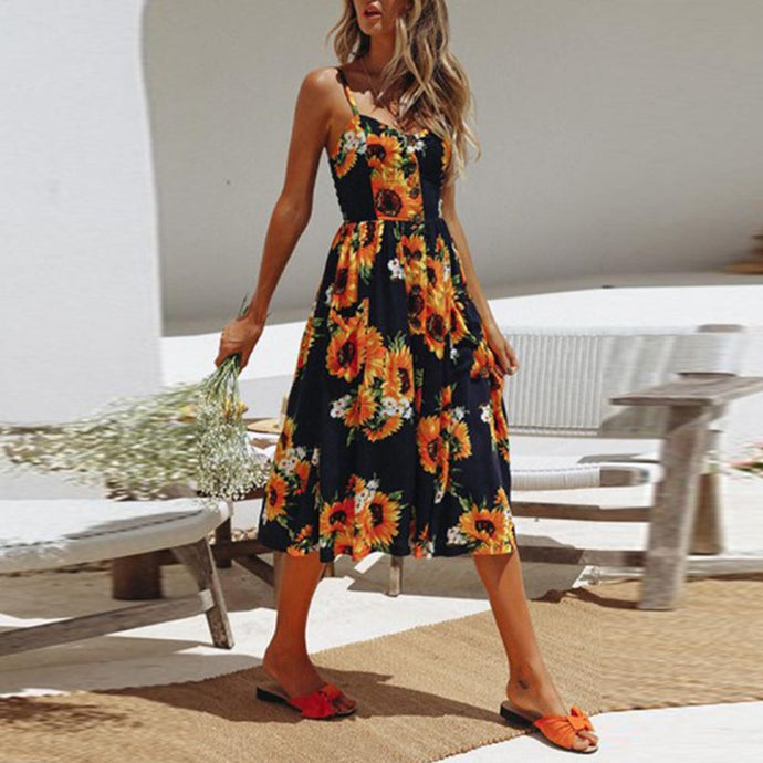 Button Up Garden Dress