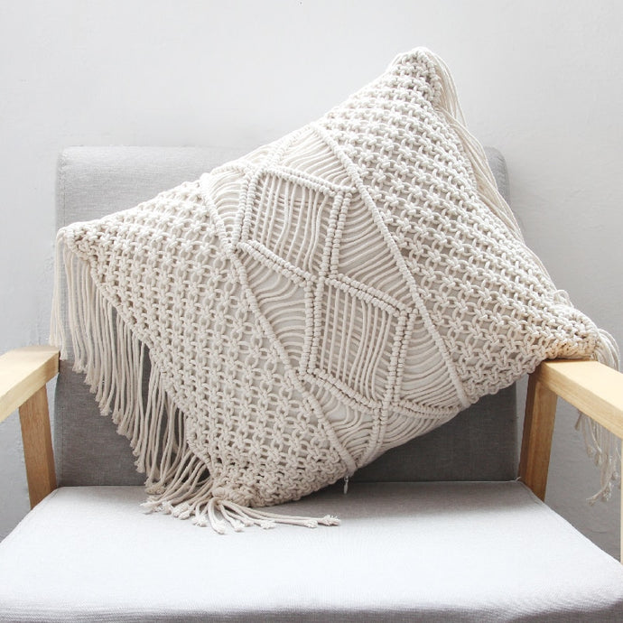Vintage Macramé Pillow Cover