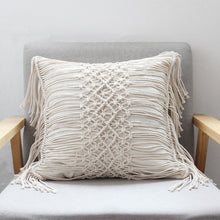 Load image into Gallery viewer, Vintage Macramé Pillow Cover