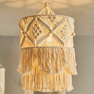 ANNIE Macrame Hanging Lamp