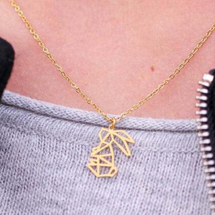 Rabbit Geometric Necklace