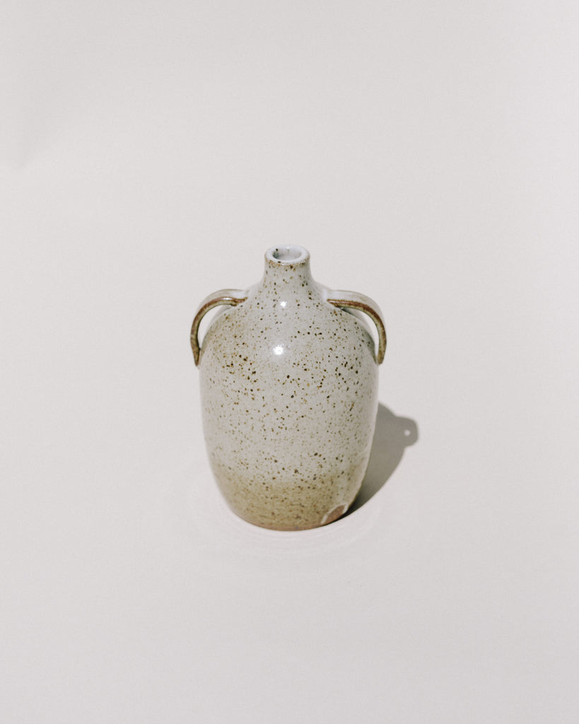 Double Handle Speckle Vase IV