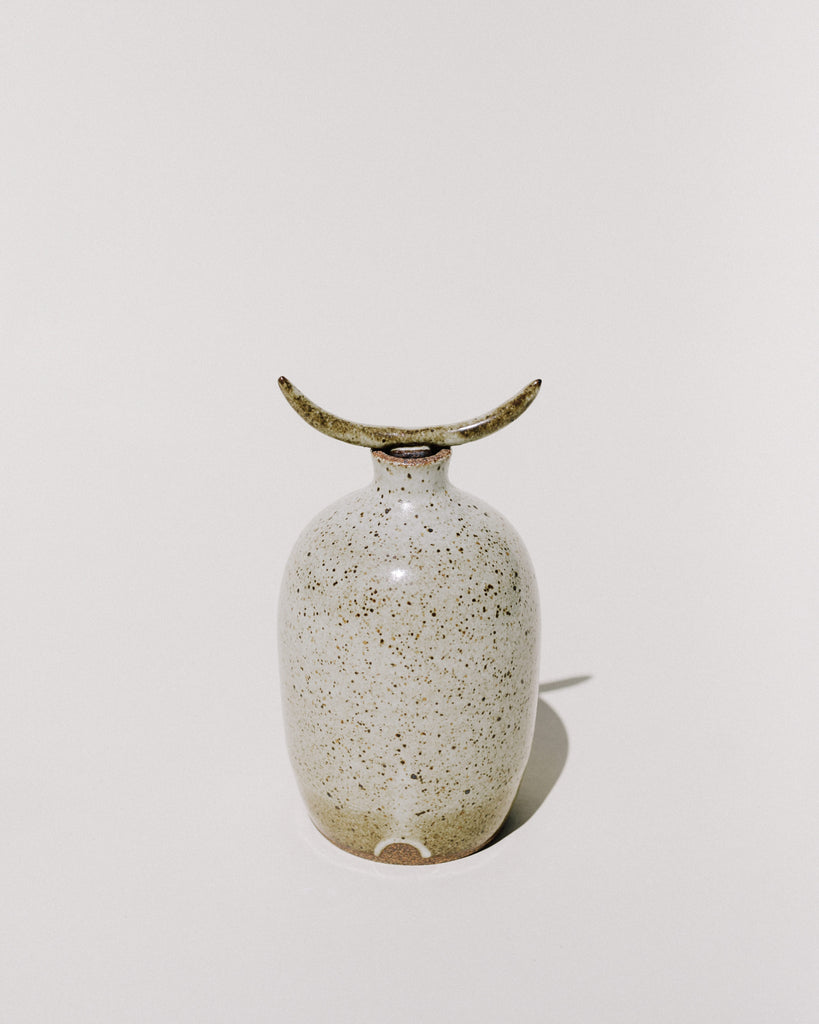 Speckled Long Horn Topped Vase
