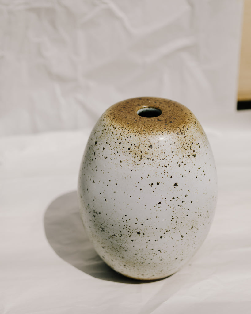 Large Toasty Speckle Vase
