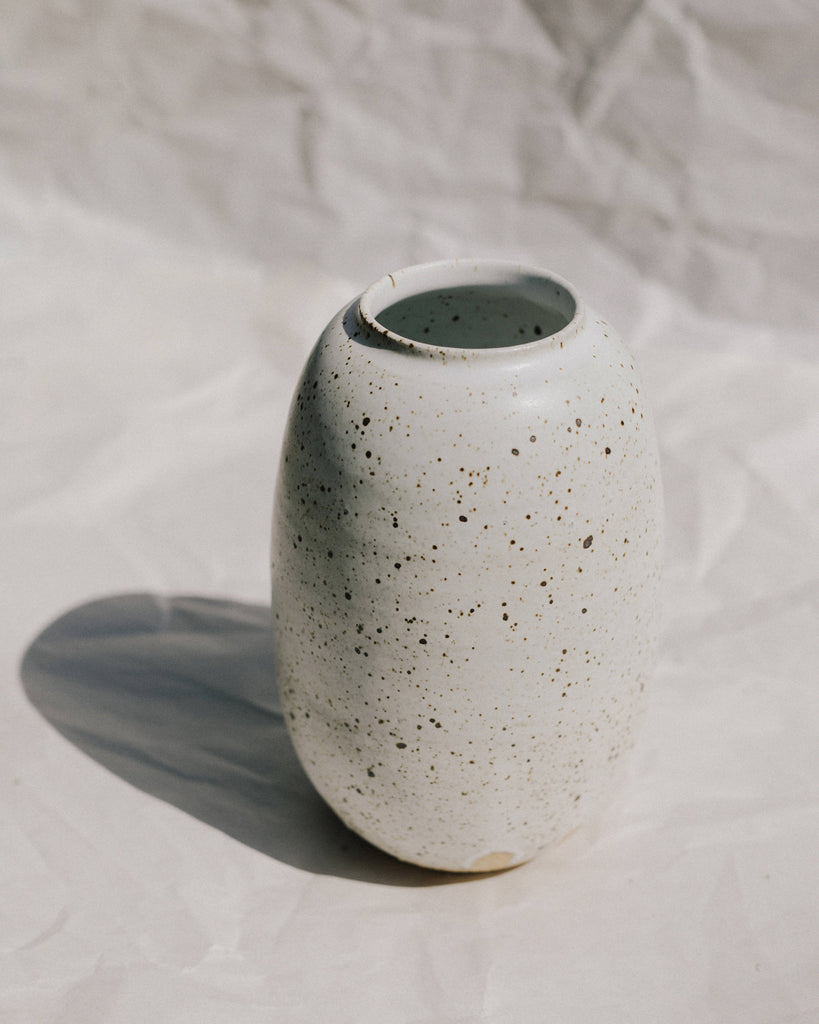 White Tall Slim Vase