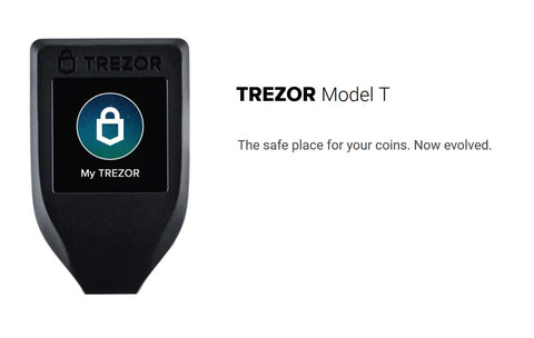 Trezor T Hardware Wallet - Crypto Hardware Wallet - Bitcoin XRP ETH - Encrypted Hardware