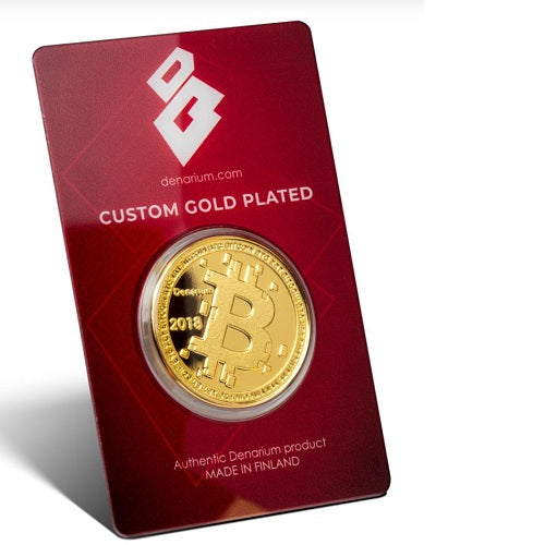 Denarium Custom Gold Plated 2018 Crypto Wallet