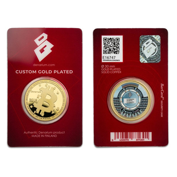Denarium Custom Gold Plated 2019 Crypto Wallet