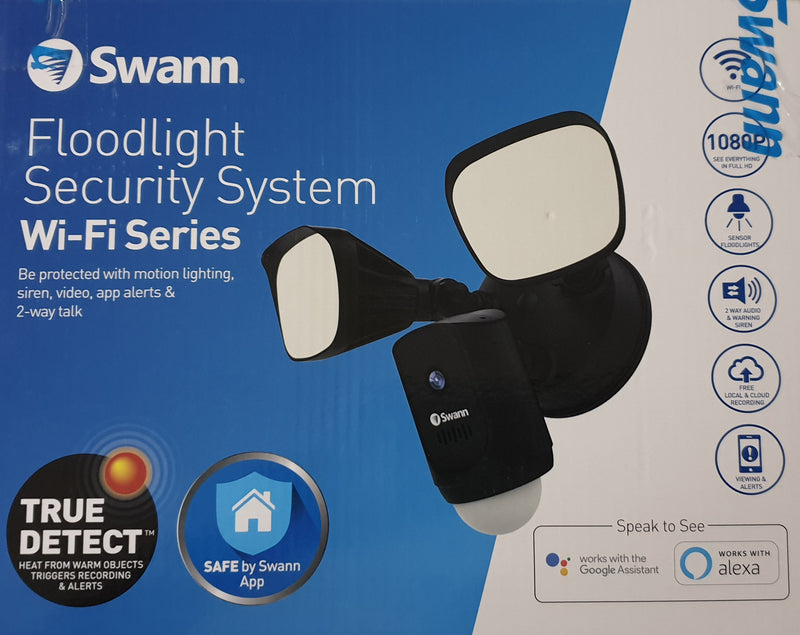 Swann Spotlight Outdoor Security Camera System Twin Pack 1080p Cameras
