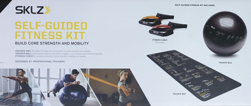 Skilz Self Guided Fitness Kit - Home Gym Equipment Mutli Use - Full Body Workouts