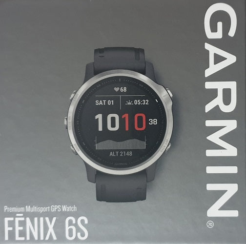 Garmin Fenix 6S Sports Watch Silver with Black Band