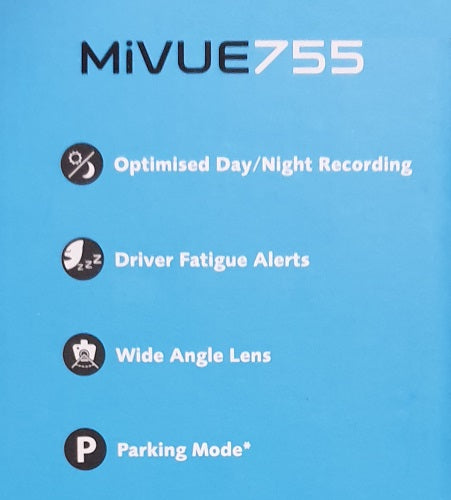 Navman MiVue 755 Dashcam Full HD 1080P Camera Record with GPS Tracking