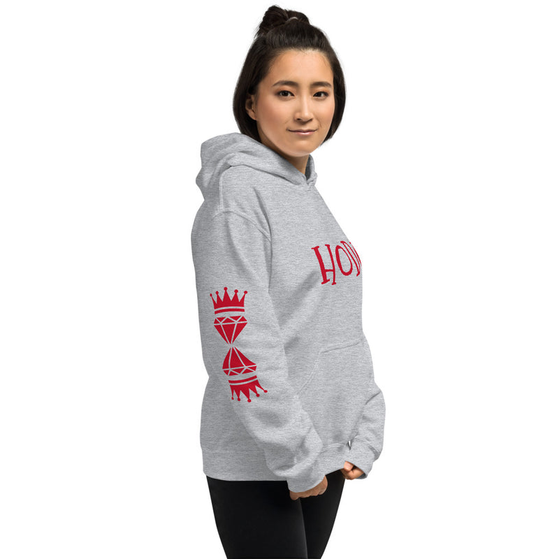 2019 Red Hooded Sweatshirt