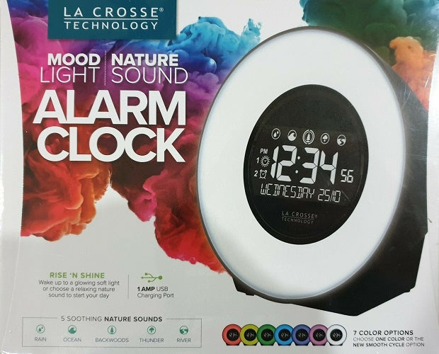 Mood Light and Nature Sound Alarm Clock