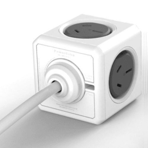 Allocacoc Power Cube 1.5m Cable with 4 Power Outlets & 2 USB