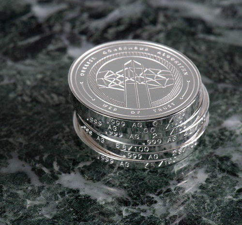 One Pure Silver (99.9%) Skycoin Collectable Coin