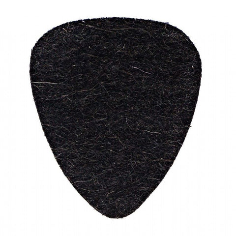 Timber Tones Felt Tones Black Wool 1 Guitar Pick