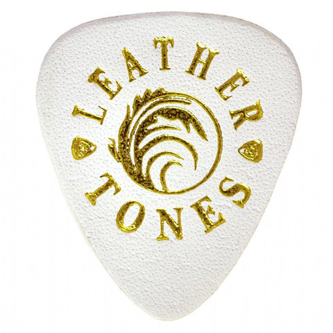Timber Tones Leather Tones White 1 Guitar Pick