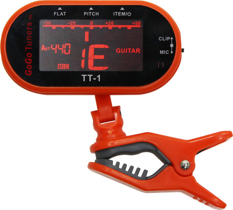 The GoGo Tuners TT-1 Multi Instrument Clip On Tuner Orange