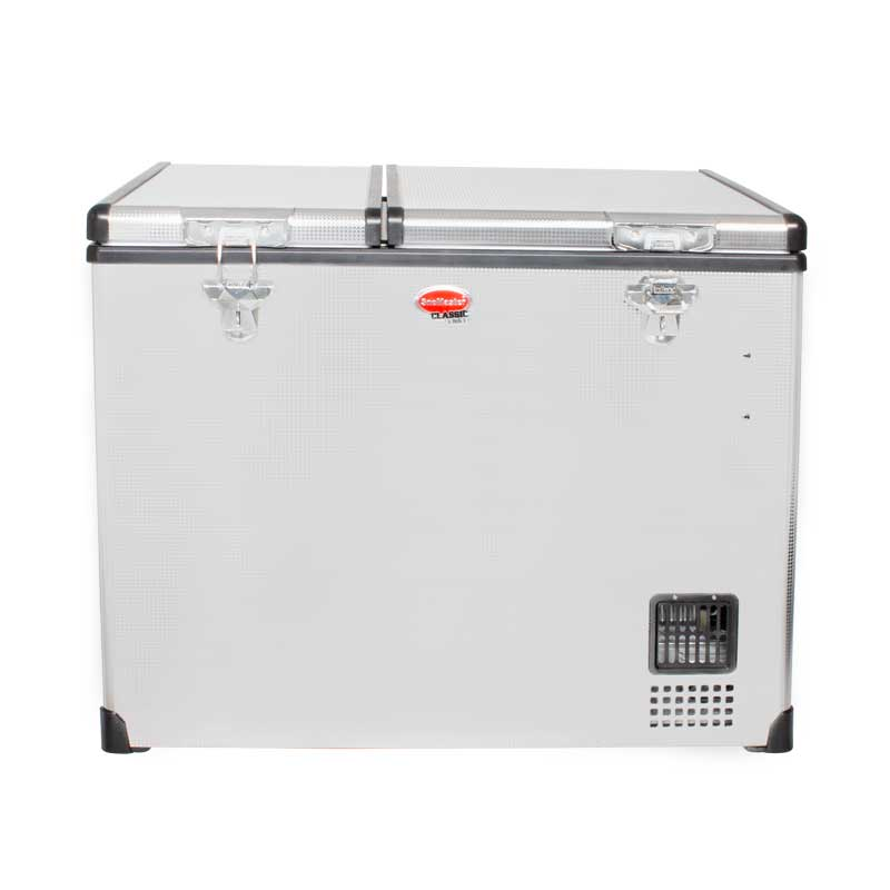 SnoMaster 72L Dual Compartment Stainless Steel Fridge/Freezer AC/DC