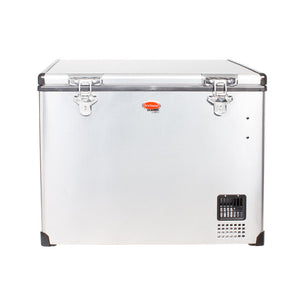 SnoMaster 56L Dual Compartment Stainless Steel Fridge/Freezer AC/DC