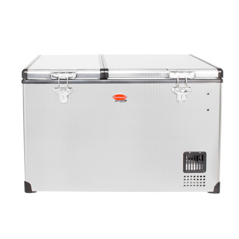 SnoMaster 66L Dual Compartment Stainless Steel Fridge/Freezer AC/DC
