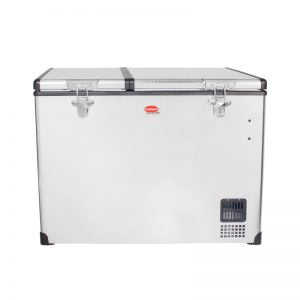 SnoMaster 85L Dual Compartment Stainless Steel Fridge/Freezer AC/DC