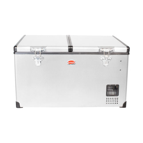 SnoMaster 66L Low Profile Dual Compartment Stainless Steel Fridge/Freezer AC/DC