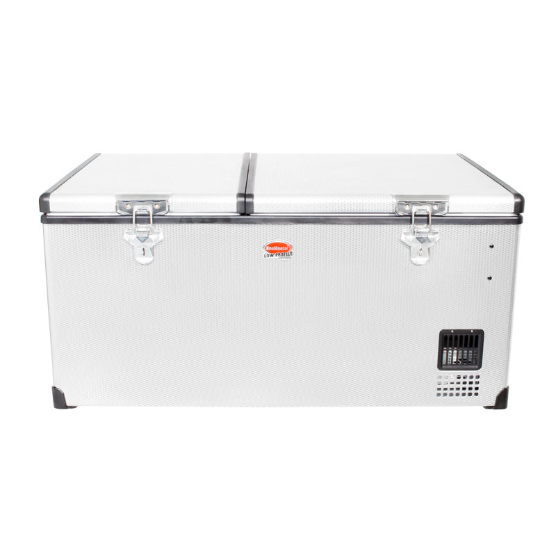 SnoMaster 92.5L Dual Compartment Stainless Steel Fridge/Freezer AC/DC