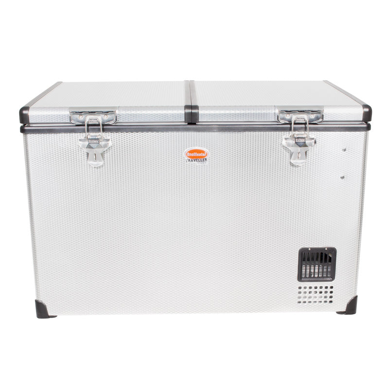 SnoMaster 82.5L Dual Compartment Stainless Steel Fridge/Freezer AC/DC