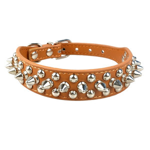 Spiked Leather Collar
