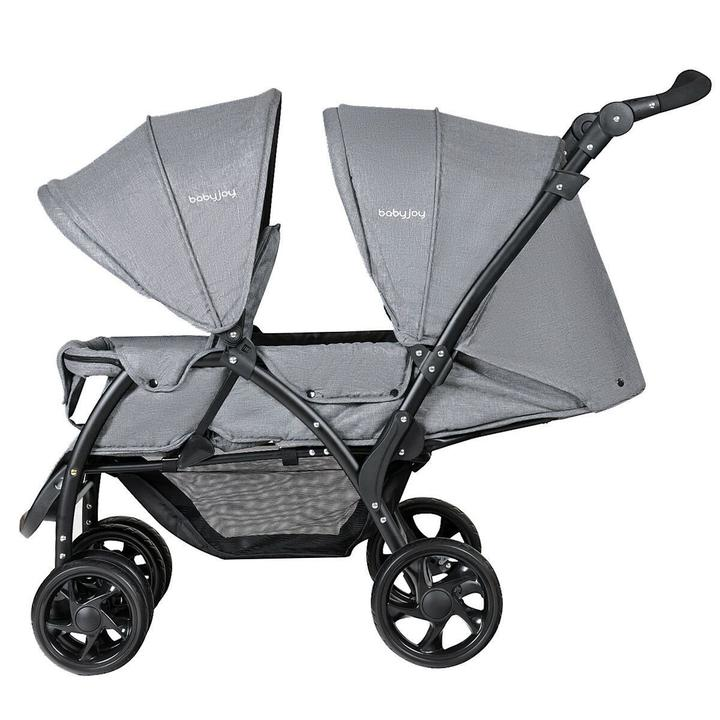 Grey Double Stroller for twins