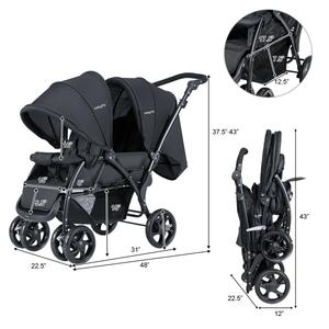 Double stroller foldable and easy to carry