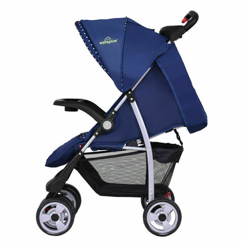 Travel Stroller in blue, compact and lightweight