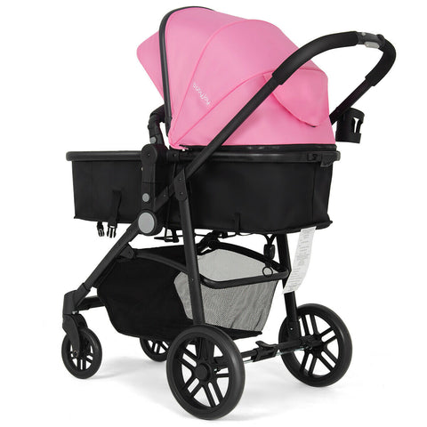 Pink 2 in 1 Baby Stroller