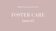 foster care baby journal insert
