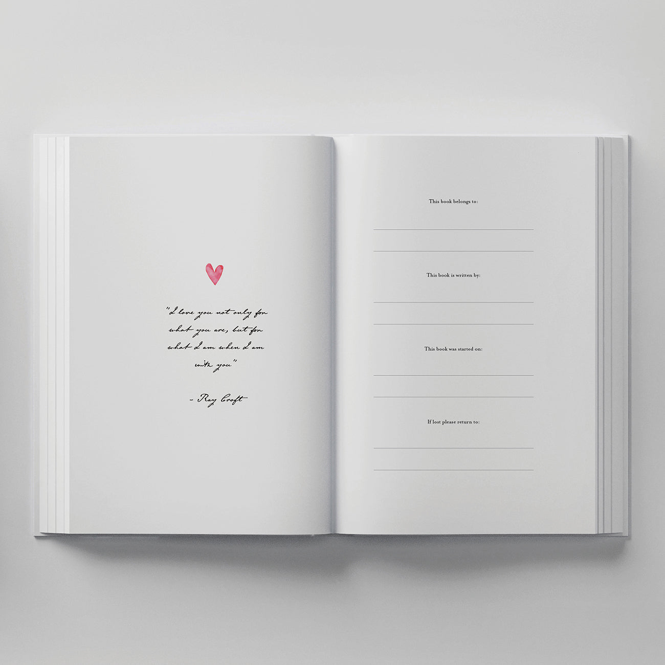 couples journal inside