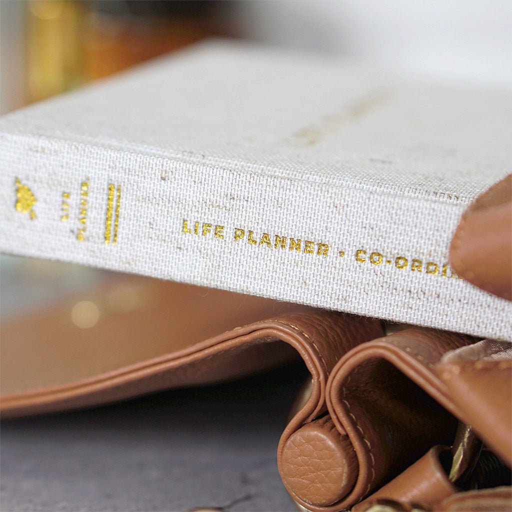 truly amor life planner close up in handbag