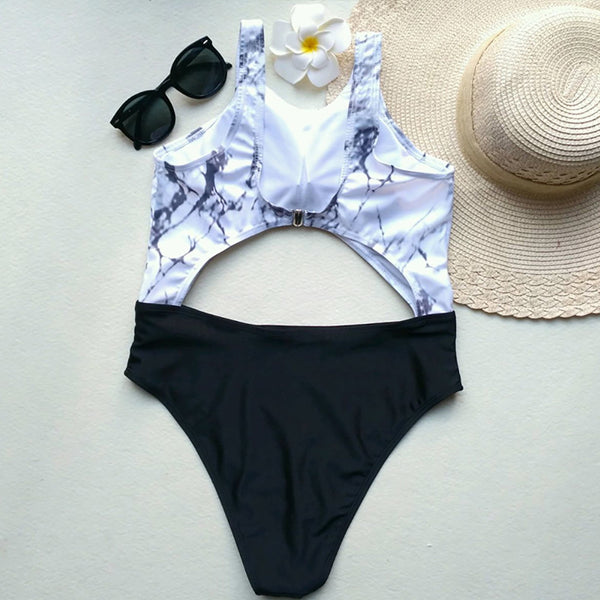 Marble One Piece Swimsuit