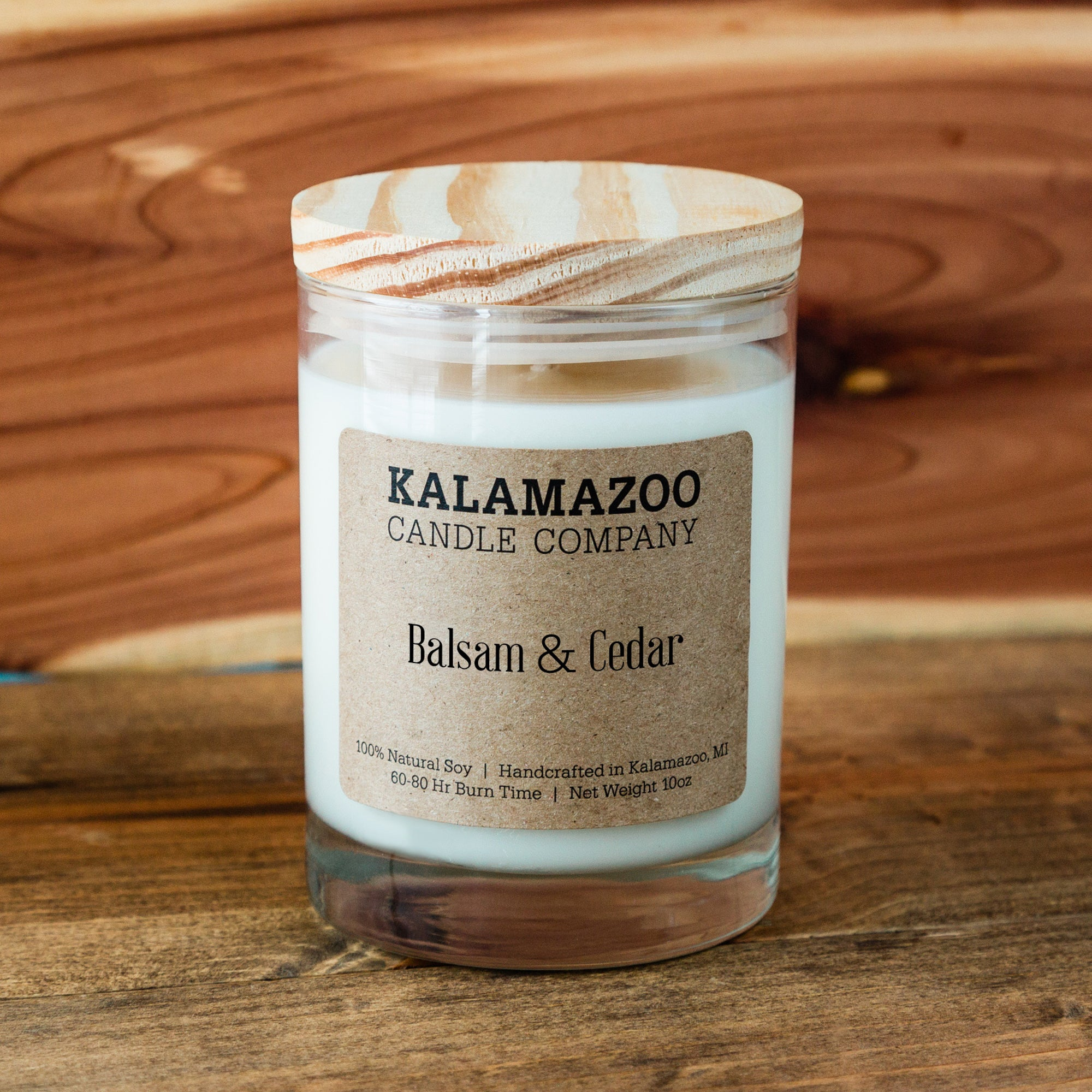 Balsam & Cedar Candle: 10oz Jar