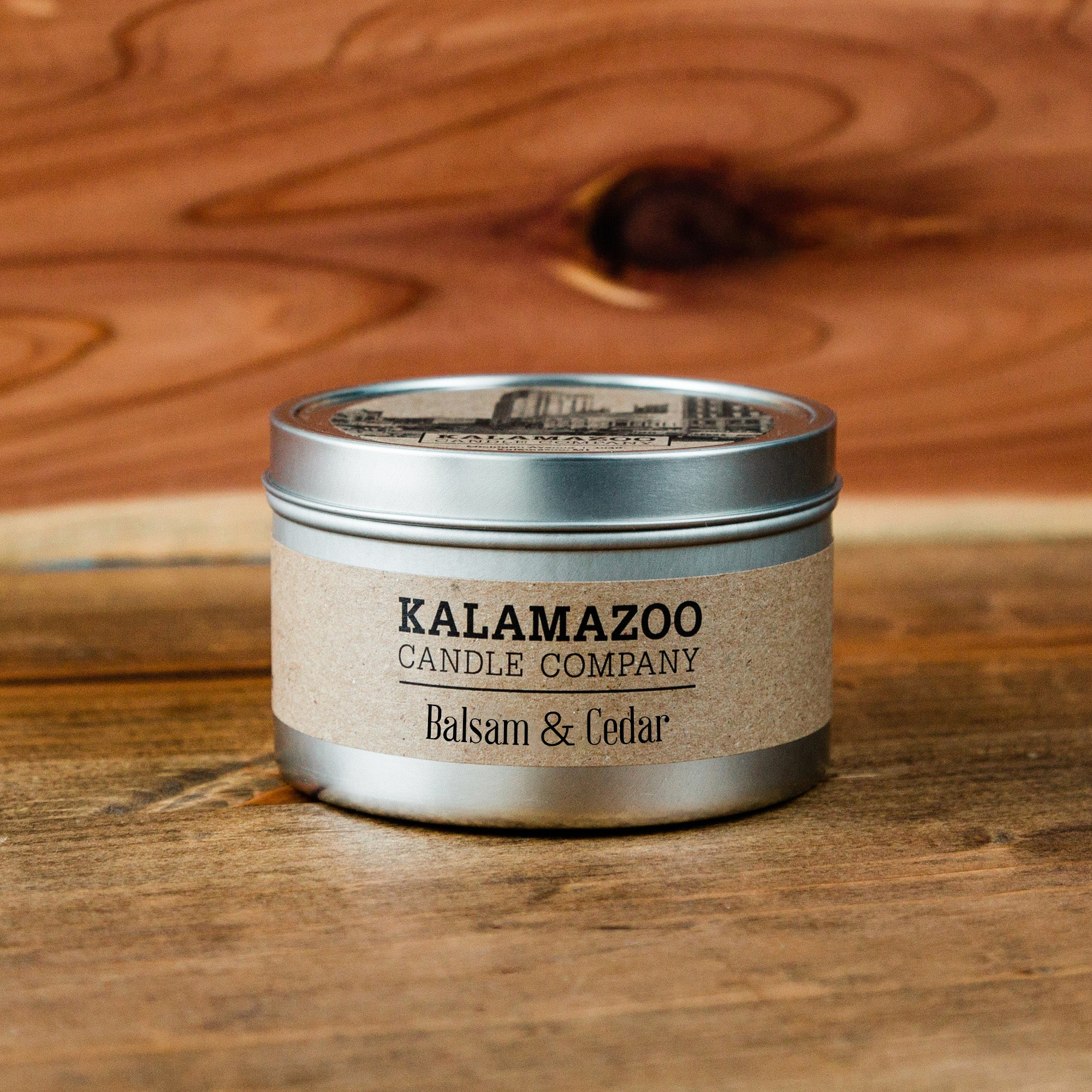 Balsam & Cedar Candle: 6oz Tin